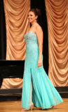 Desja Eagle Tail competes in the evening gown section