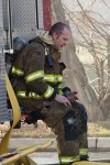 Injured firefighter