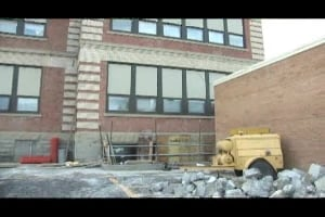Work begins on McKinley school wall