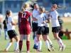 Members of the Billings Senior girls soccer team celebrate