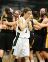 Allie Lucas of Central reacts