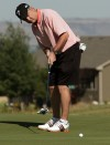 Jerry Pearsall putts on the 17th