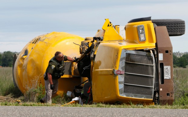 Driver injured in cement truck rollover | Billings News ...