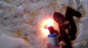 Igor Josifov demonstrates his fire art