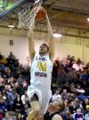 Laurel's Zac Allen dunks