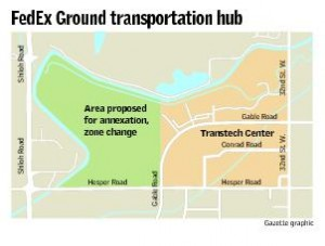 FedEx still negotiating with neighboring opponents of transportation hub
