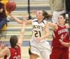 MSUB's Bobbi Knudsen, 21, puts up a shot