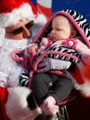 Atalie Poitra meets Santa Claus