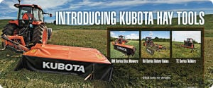 Intoducing Kubota Hay Tools! Billings Kubota, Inc. 406-245-6702