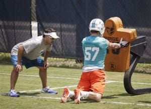 Former Griz LB Jordan Tripp turning heads at Dolphins camp