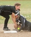 West's Makenzie Shellnutt, 24, is safe at second