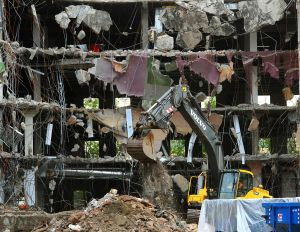 Demolition of old library encounters another hang-up