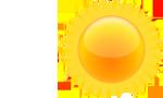 Mainly sunny