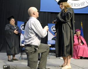 Surprise proposal at University of Mary commencement