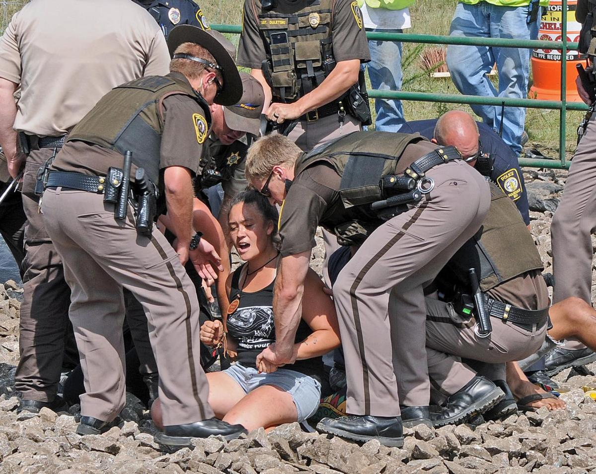Movie star joins pipeline protest as 10 arrested in heavily policed scene