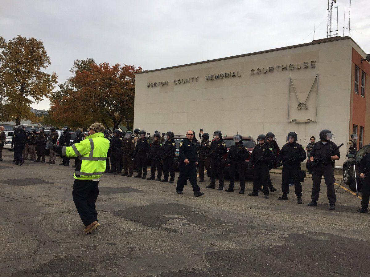Courthouse protest