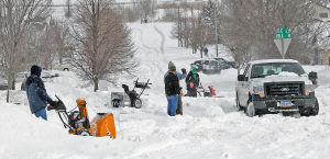Residents digging out