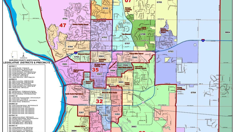 BismarckBurleigh Voting Precinct Map   Bismarcktribune