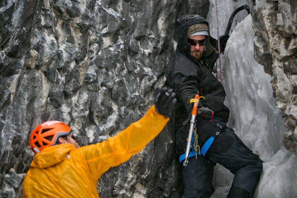 Veterans Expeditions Ice Climbing in Hyalite Canyon