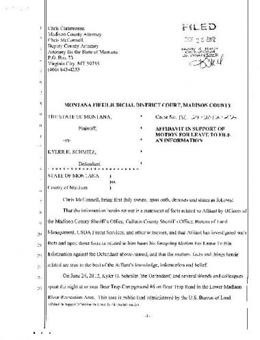 Schmitz affidavit