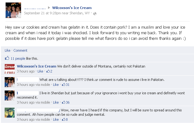 Wilcoxson's Facebook flap