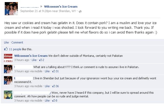 Wilcoxson's Facebook flap