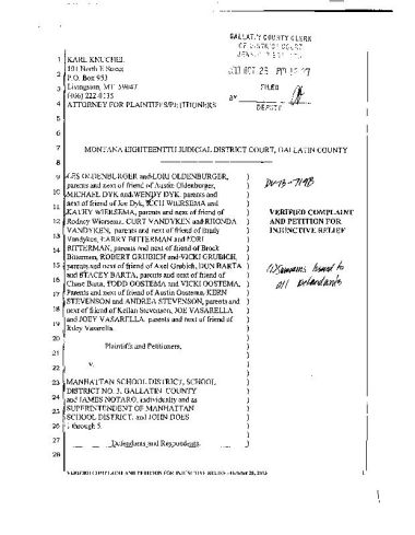 Parents' lawsuit supporting McQueary