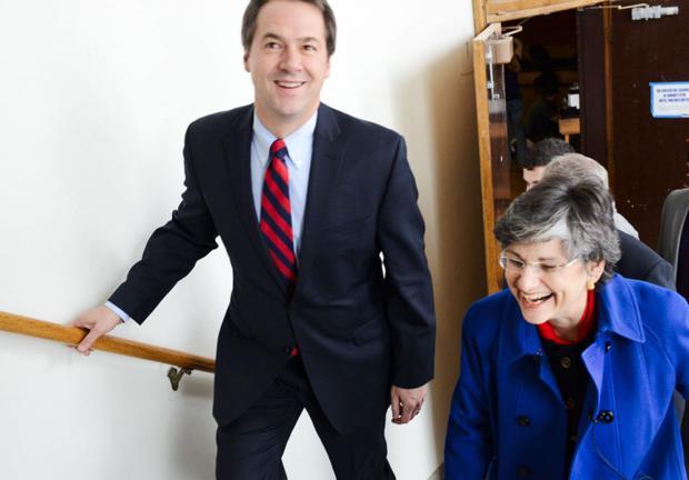 Gov. Steve Bullock visits MSU Romney Gym