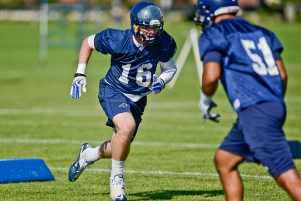 Football - Montana State First Session of Preseason Practice