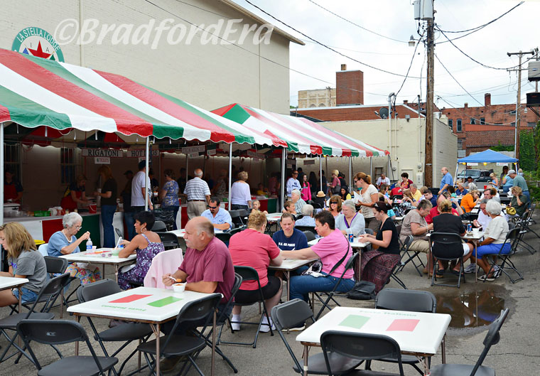 Eating area at Festa Italiana