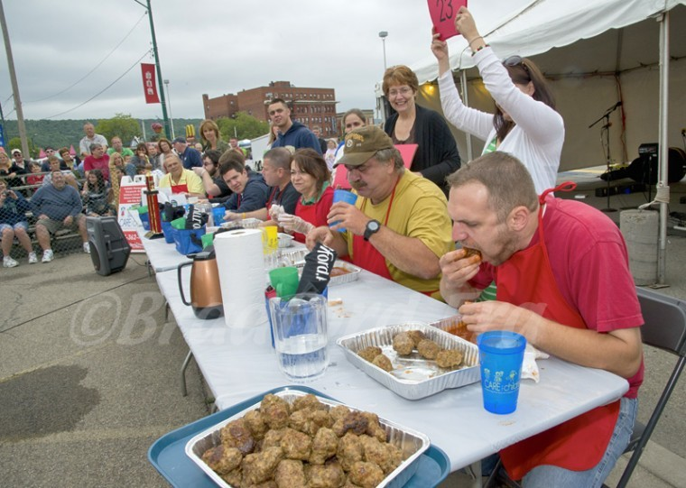 Meatball Eating Contest at Festa Italiana