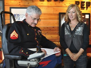 test4Local shop honors wounded veteran