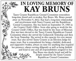In Loving Memory of Kay Bruns