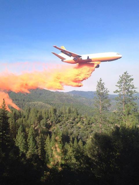 Rim Fire - aerial support
