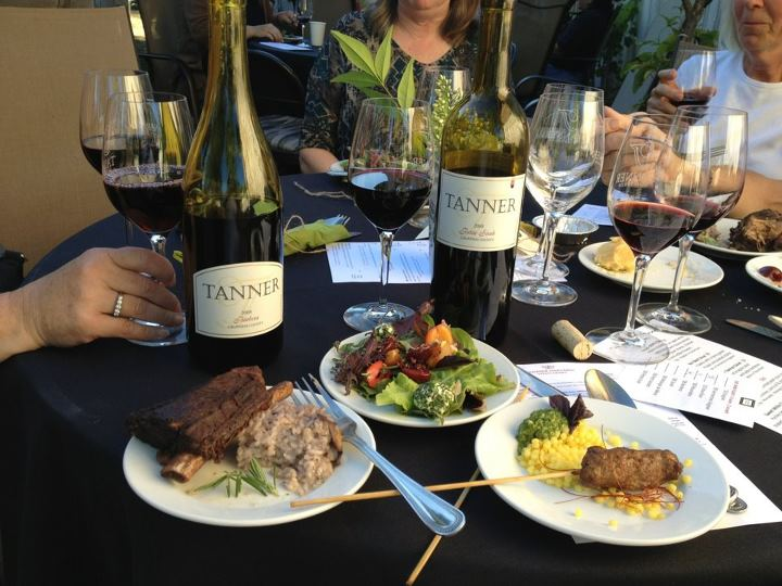 Tanner winery showcases food and wine on the patio