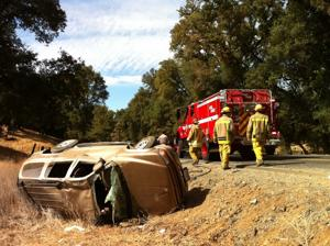 Arnold couple survive rollover