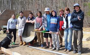 Falmouth High School Well Grounded Group Build New Greenhouse