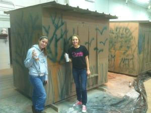 Local Girl Scouts construct hunting blinds for Gold Award project