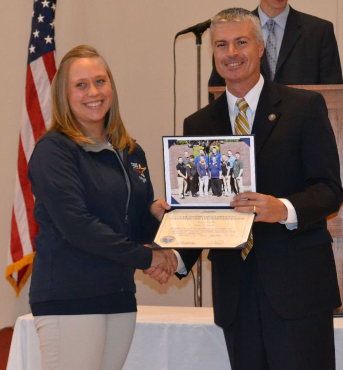 Dispatcher Receives Basic 911 Certification