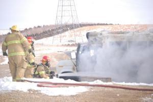Christmas Eve fire destroys bus on farm near Pierre