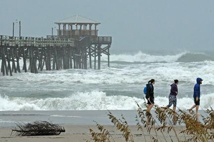 Storm brings heavy rain possible tornadoes news times news for Oceanana pier fishing report