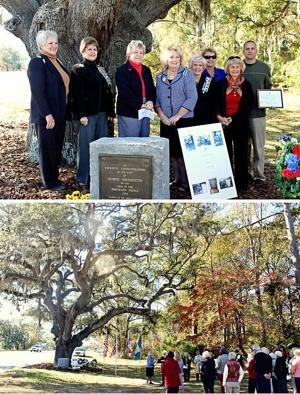 George Washington Tree marker rededicated in Hampstead