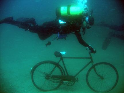 Underwater bike race a july 4th mainstay