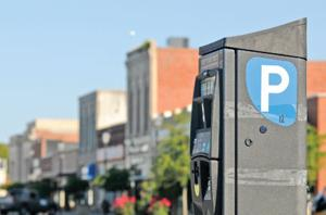 <p><span>Parking on Front Street in Beaufort will begin to be metered Saturday for the Memorial Day holiday weekend. (Dylan Ray photo)</span></p>