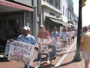 Watermen protest