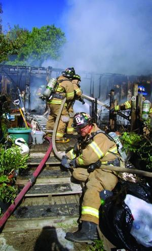Blue Ball Road house fire