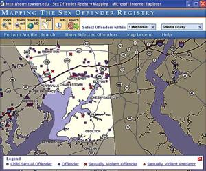 Sex offender registry*120 sex offenders are registered in Cecil County