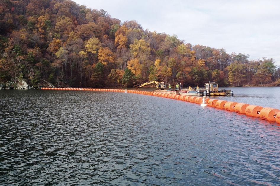 New Floating Barrier At Smith Mountain Dam More Visible