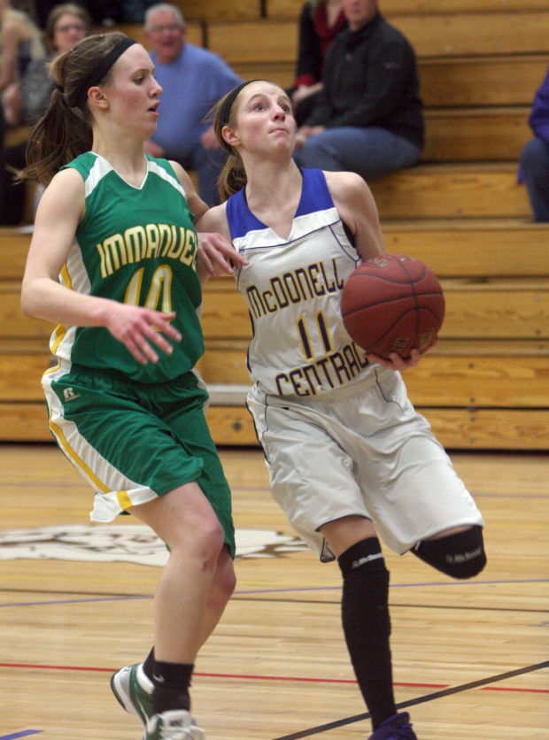 McDonell Girls Basketball vs. Eau Claire Immanuel Lutheran 1-24-