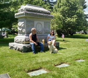 Volunteers groom founding family graves in Evergreen Cemetery